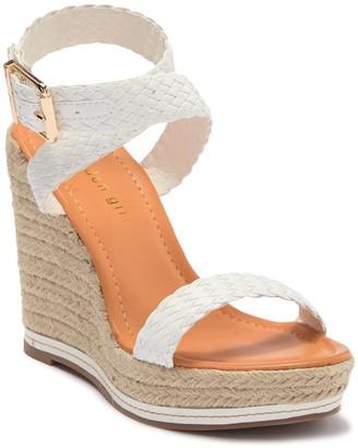 Madden-Girl Narla Wrap-Around Ankle Strap Wedge Platform Sandal