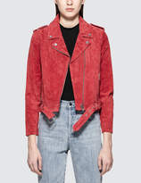 Obey St. Marks Suede Moto Leather Jacket
