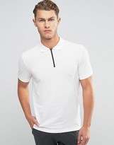 Jack & Jones Zipped Pique Polo