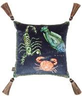 House Of Hackney - Triplicity Astrology-print Cotton-velvet Cushion - Blue Print