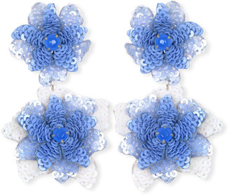 Suzanna Dai Oaxaca Sequin Flower Drop Earrings