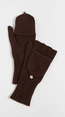 Carolina Amato Knit Texting Cashmere Mittens