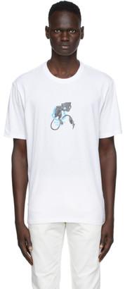 MONCLER GENIUS 7 Moncler Fragment Hiroshi Fujiwara White Graphic T-Shirt