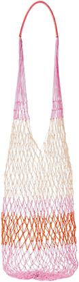 Sophie Anderson Color-block Macrame Shoulder Bag
