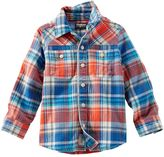 Osh Kosh Boys 4-7 Plaid Button-Down Shirt