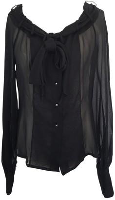 Chanel \N Black Silk Tops