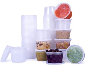 Shopokus ShopoKus Plastic Containers for Lunch/Large Food Container with Lid, Leak Proof, Microwavable, Freezer & Dishwasher Safe, (16 OZ (36 Pack)