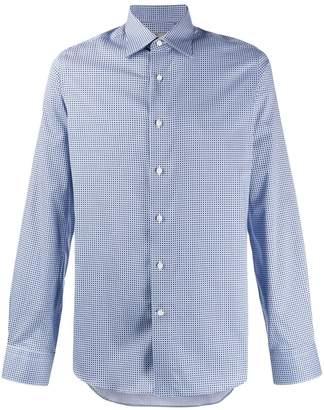Canali long sleeved printed shirt