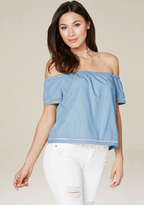 Bebe Ariah Chambray Top