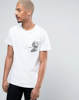 Versace Jeans T-shirt In White With Printed Pocket
