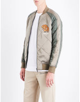 Maharishi Reversible Embroidered Silk-satin And Shell Bomber Jacket