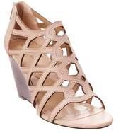 Adrienne Vittadini Alby Leather Wedge Sandal.