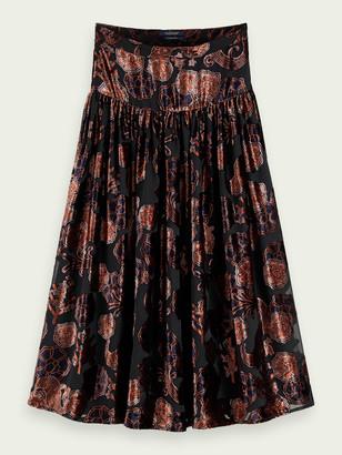 Scotch & Soda High-rise velvet midi skirt | Women