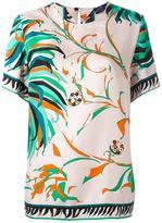 Emilio Pucci 'leaves' print T-shirt