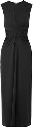 Theory Twist-front Stretch-jersey Midi Dress