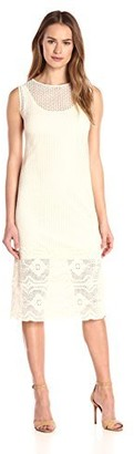 Only Hearts Women's Zoe Midi Column Dress with Liner