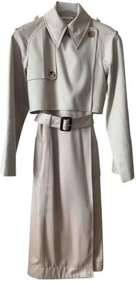 Celine Beige Cotton Trench Coat for Women