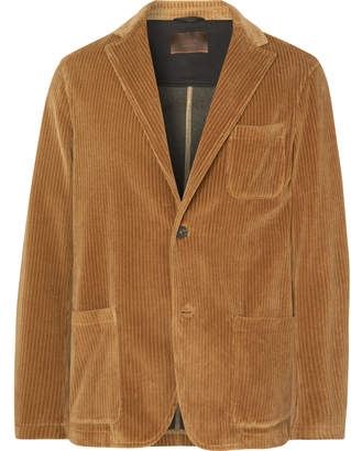 Altea Tan Unstructured Cotton-Corduroy Blazer