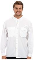 Exofficio Air Striptm Long Sleeve Top (White) Men's Long Sleeve Button Up