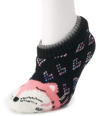 Juniors' SO Double Cuff Slipper Socks