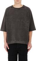 Yeezy Men's Fleece Oversized Boxy-Fit Sweatshirt-BLACK