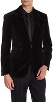 Kenneth Cole New York Two Button Notch Lapel Velvet Wool Sport Coat