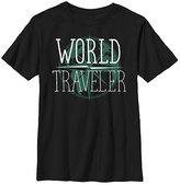 Fifth Sun Black 'World Traveler' Crewneck Tee - Boys