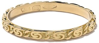 Wouters & Hendrix Gold 18kt yellow gold Snail Diamond Chain ring
