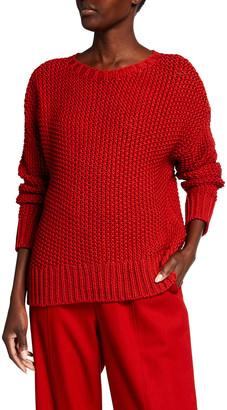 Eileen Fisher Organic Cotton Shoelace Crewneck Sweater