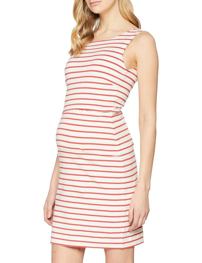 Boob Women's Simone Maternity Sleeveless Dress in Organic Cotton with Easy Nursing Access (M Tofu/Cardinal Red)