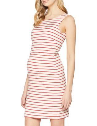 Boob Women's Simone Maternity Sleeveless Dress in Organic Cotton with Easy Nursing Access (S Tofu/Cardinal Red)