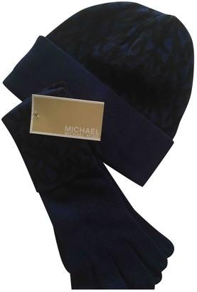 Michael Kors Blue Wool Gloves