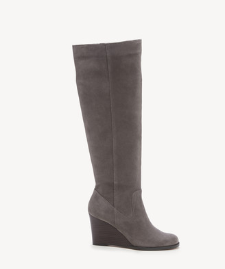 Sole Society Women's Prony Wedges Boots Dark Mushroom Size 5 Suede From