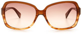 Diane von Furstenberg Women's Rose Oversized Plastic Frame Sunglasses
