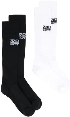 Off-White Active logo socks (2 pairs)