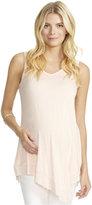Jessica Simpson Maternity Handkerchief-Hem Lace-Panel Top