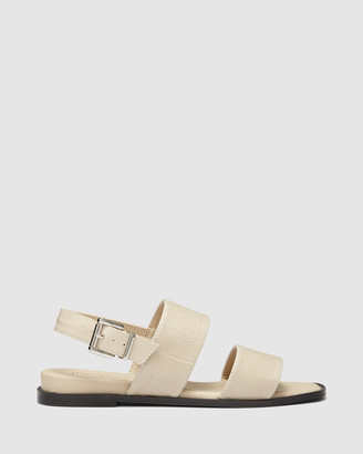 Therapy Women's Nude Flat Sandals - Sparrow - Size One Size, 6 at The Iconic