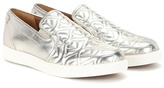 See by Chloe Metallic Quilted Leather Slip-on Sneakers