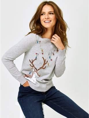 M&Co Petite deer Christmas jumper