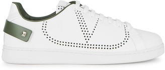 Valentino white perforated leather sneakers