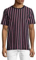 Rag & Bone Disrupted Striped T-Shirt, Navy/White/Red