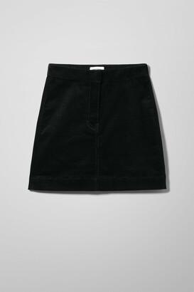 Weekday Brielle Cord Skirt - Black