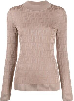 Fendi FF motif patterned jumper