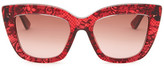 Valentino Women&s Lace Cat-Eye Sunglasses