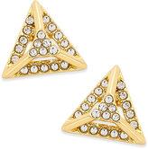 ABS by Allen Schwartz Gold-Tone Pavé Pyramid Stud Earrings