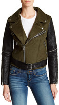 Vigoss Moto Vegan Wool Leather Jacket