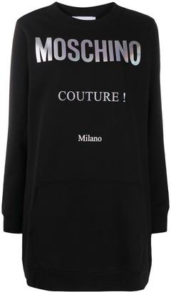 Moschino Couture logo sweatshirt dress