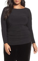 Adrianna Papell Plus Size Women's Shirred Top