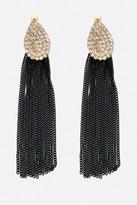 Fashion to Figure Rhinestone Chain Drop Earrings