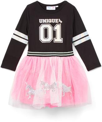 Freestyle Revolution Girls' Casual Dresses - Black 'Unique 01' Tulle-Skirt A-Line Dress - Toddler & Girls